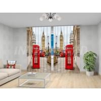 """ФотоШторы """"Телефонные будки в Лондоне"""""""